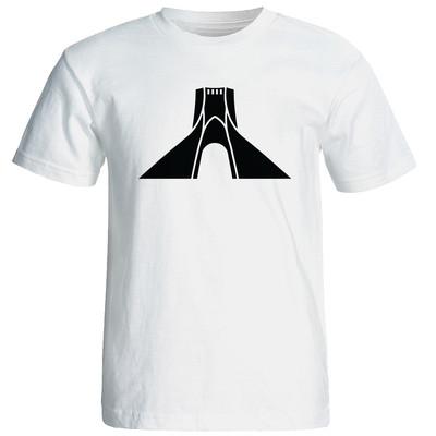 تصویر تی شرت  زنانه طرح برج آزادی کد 19023