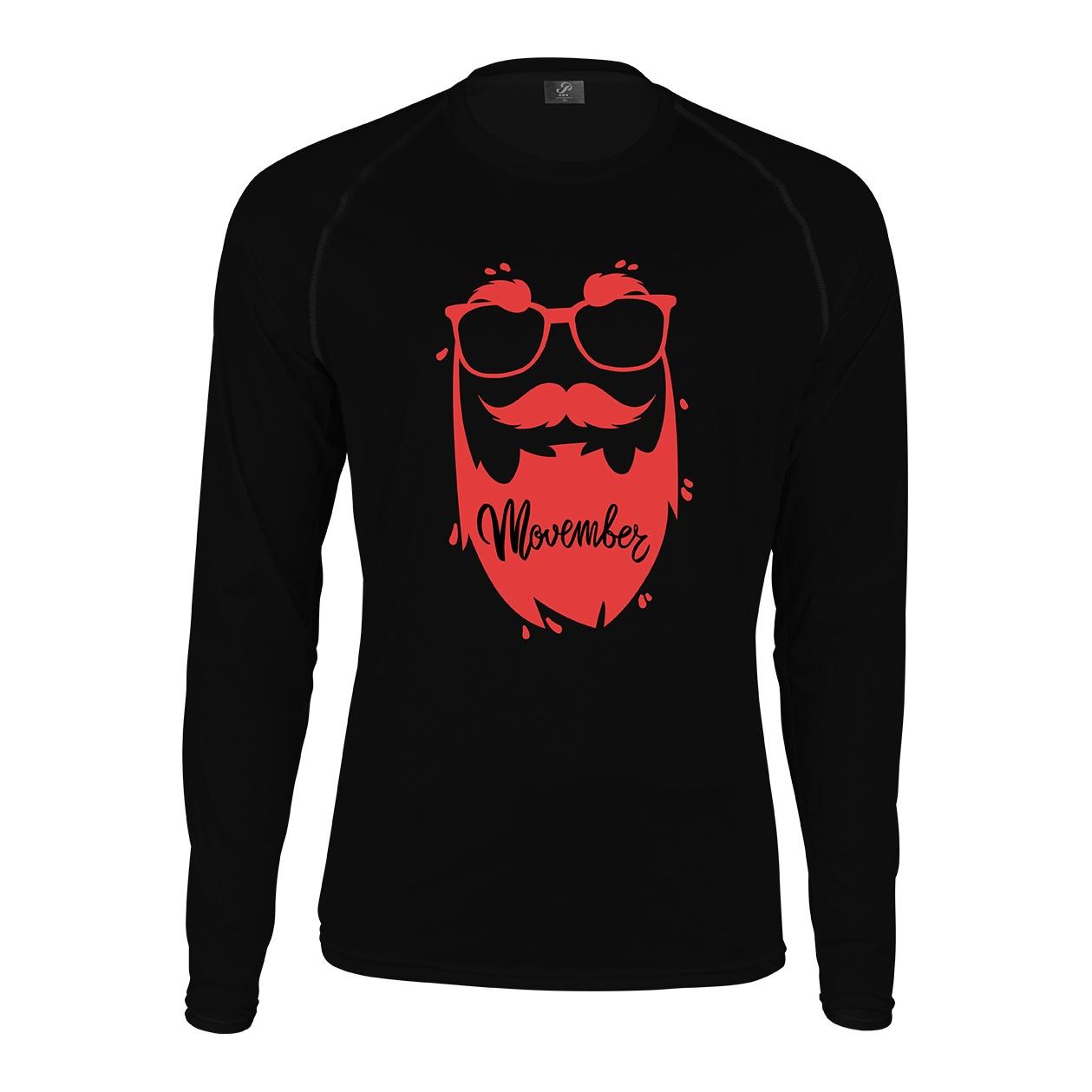 Photo of تیشرت آستین بلند مردانه پاتیلوک طرح Movember مدل 330554