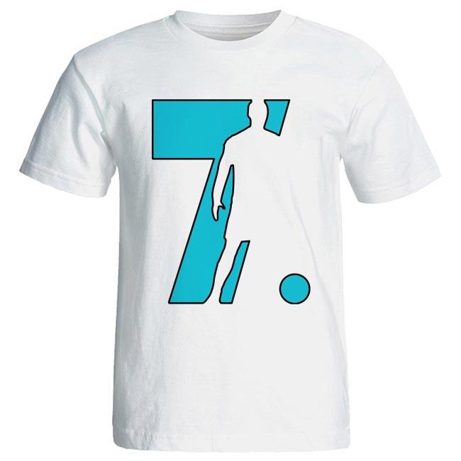 تیشرت مردانه طرح کریستیانو رونالدو کد 3567 رنگ آبی