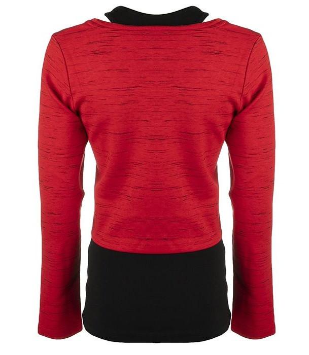 ست تاپ و تی شرت زنانه بیلسی مدل 51W8384-IN-KIRMIZI-SIYAH