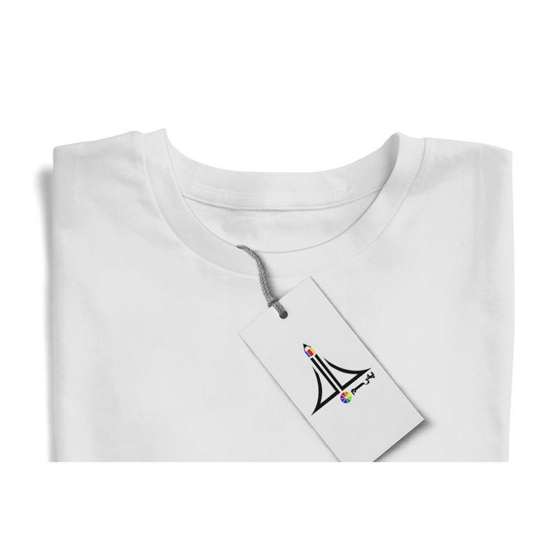 تی شرت زنانه به رسم طرح مسیر قلب کد 574