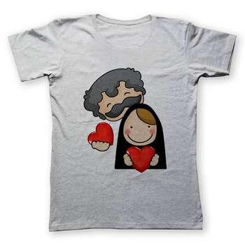 تی شرت زنانه به رسم طرح زوج کد 477