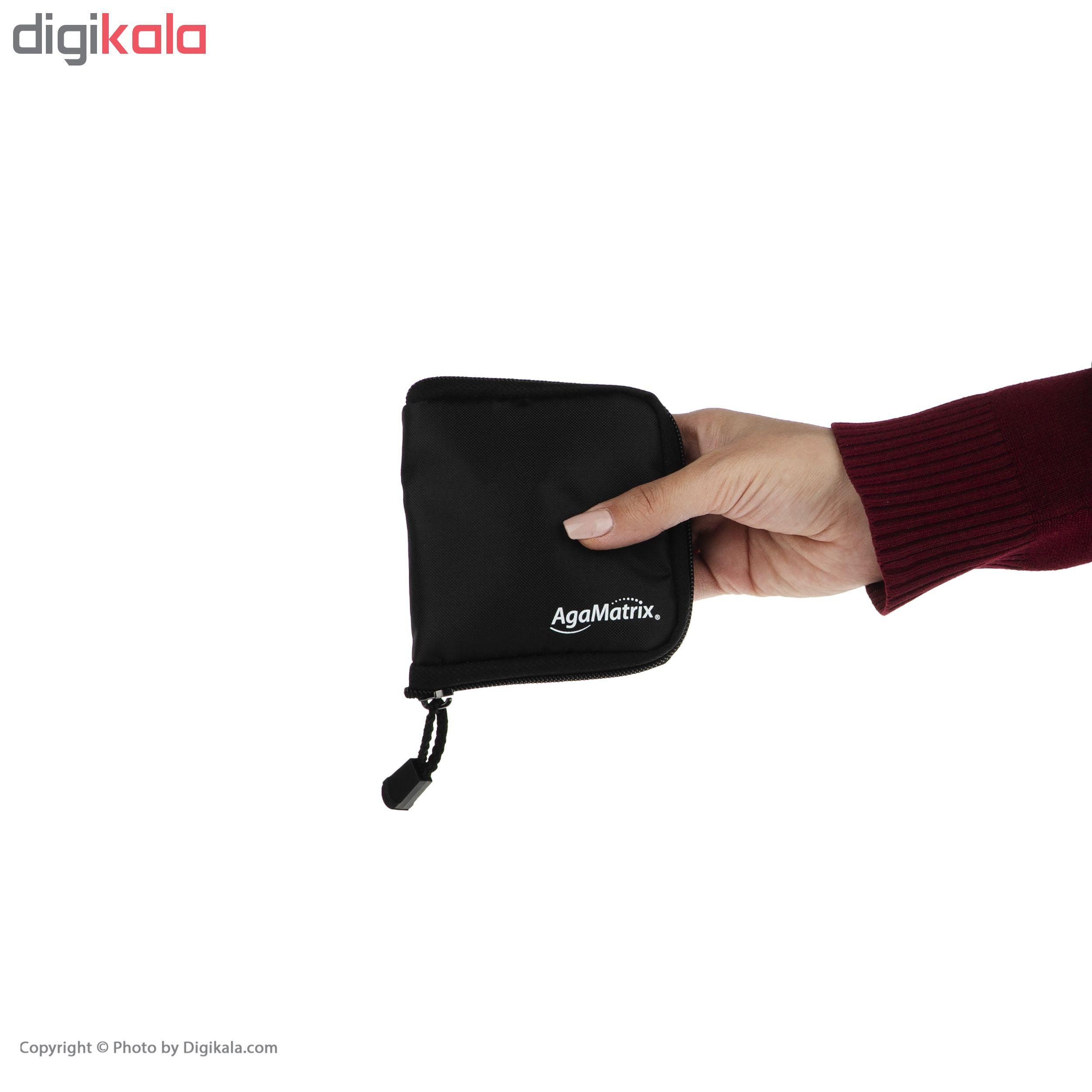 دستگاه تست قند خون آگاماتریکس مدل AgaMatrix Jazz Wireless 2 به همراه نوار تست قند خون بسته 50 عددی