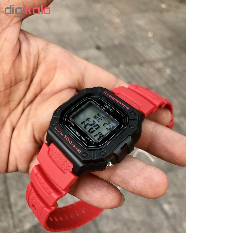 ساعت مچی دیجیتال مردانه کاسیو مدل W-218H-4BVDF             قیمت