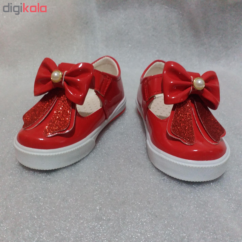 کفش بچه گانه مدل نونا قرمز رنگ