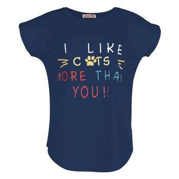 تی شرت زنانه افراتین کد 2514 رنگ سرمه ای