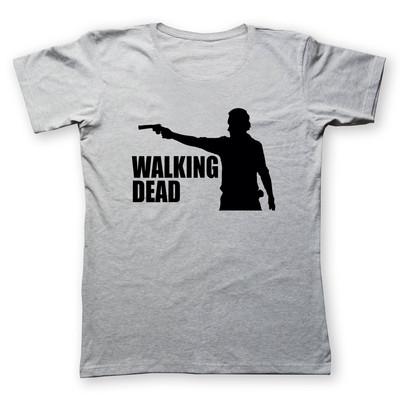 تی شرت زنانه به رسم طرح مردگان متحرک کد 480