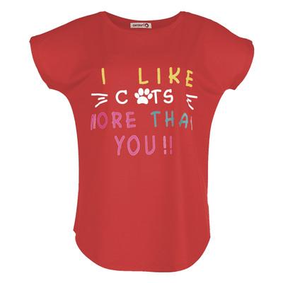 تی شرت زنانه افراتین کد 2514 رنگ قرمز