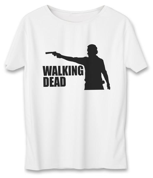 تی شرت مردانه به رسم طرح مردگان متحرک کد 380