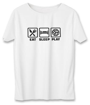 تصویر تی شرت زنانه به رسم طرح والیبال بازی کد 590