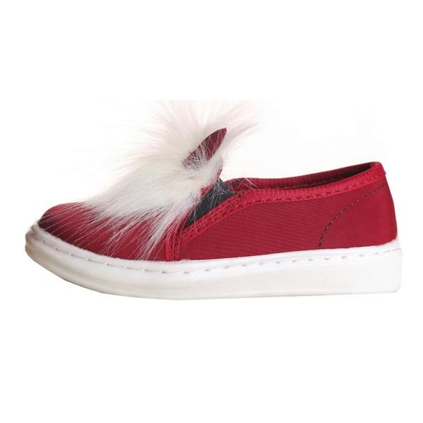کفش دخترانه طرح خرگوش رنگ زرشکی