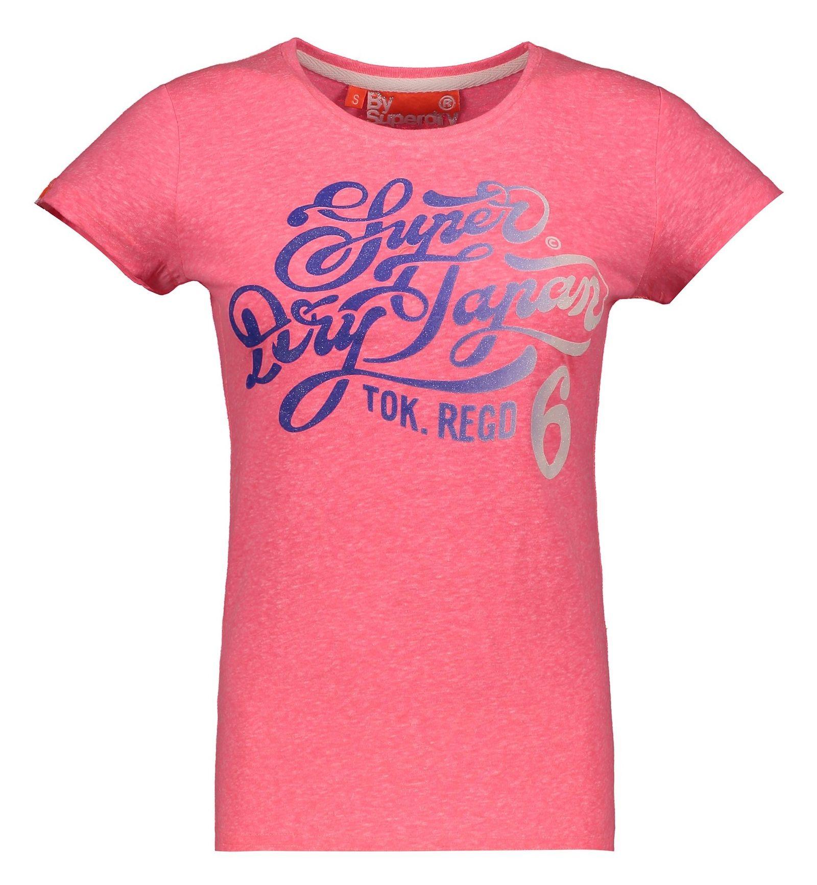 تی شرت نخی زنانه - سوپردرای - صورتي - 1