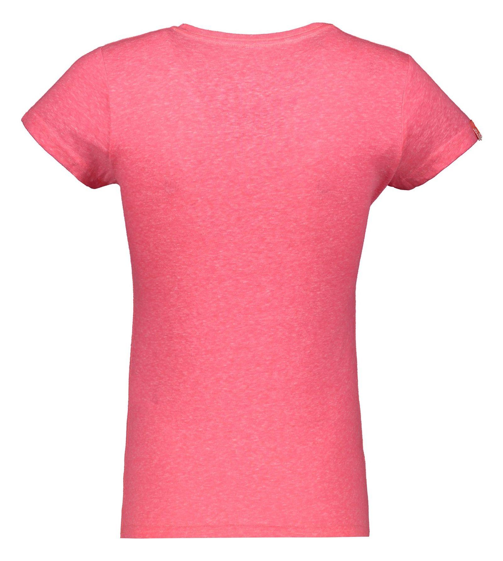تی شرت نخی زنانه - سوپردرای - صورتي - 2
