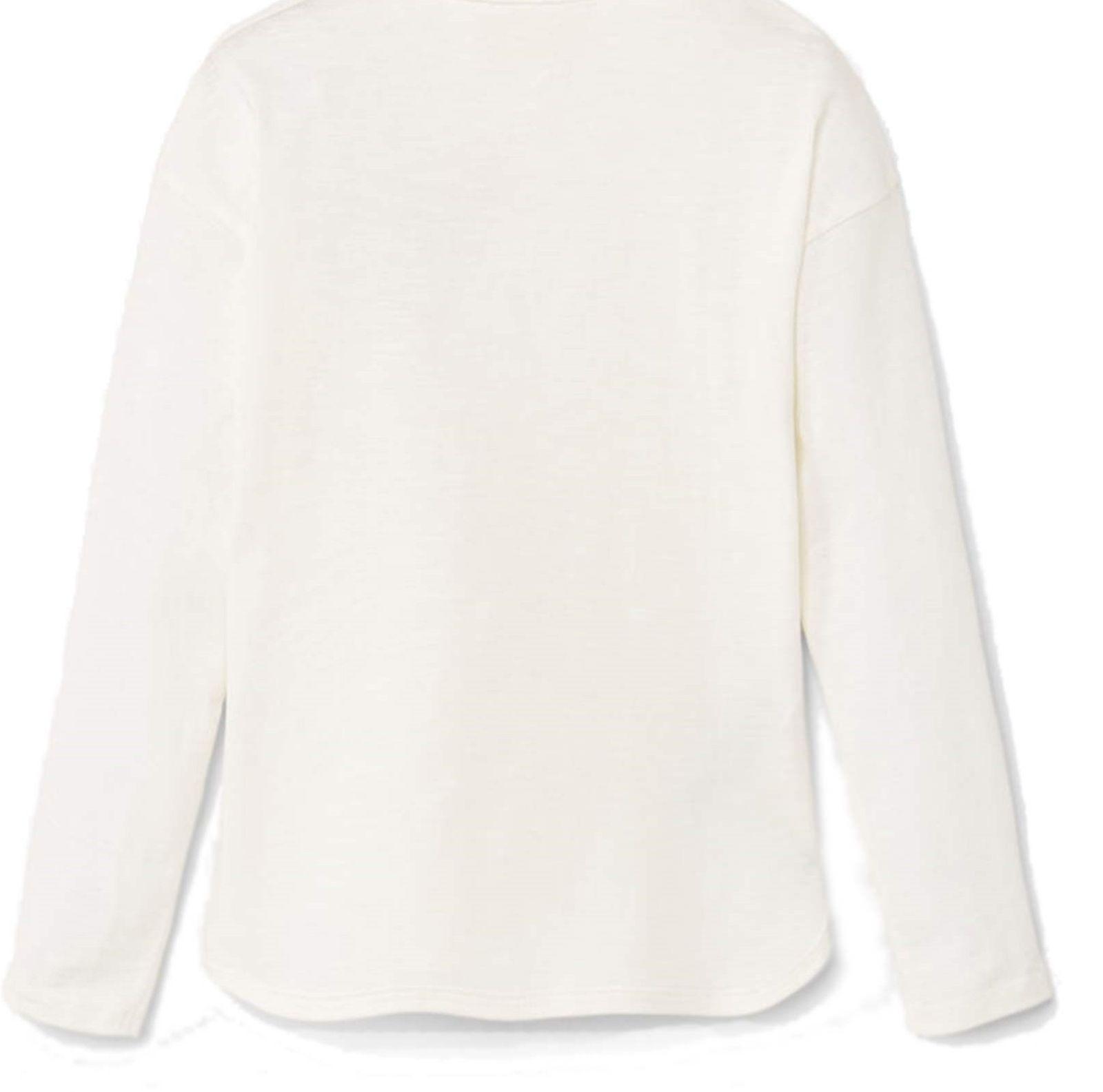 تی شرت نخی دخترانه - مانگو - سفيد وانيلي - 2