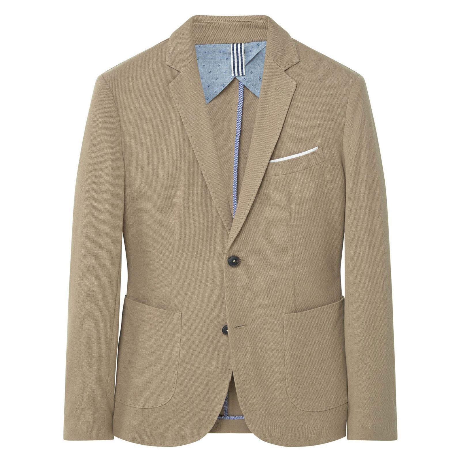 کت تک نخی مردانه - مانگو - بژ روشن - 1