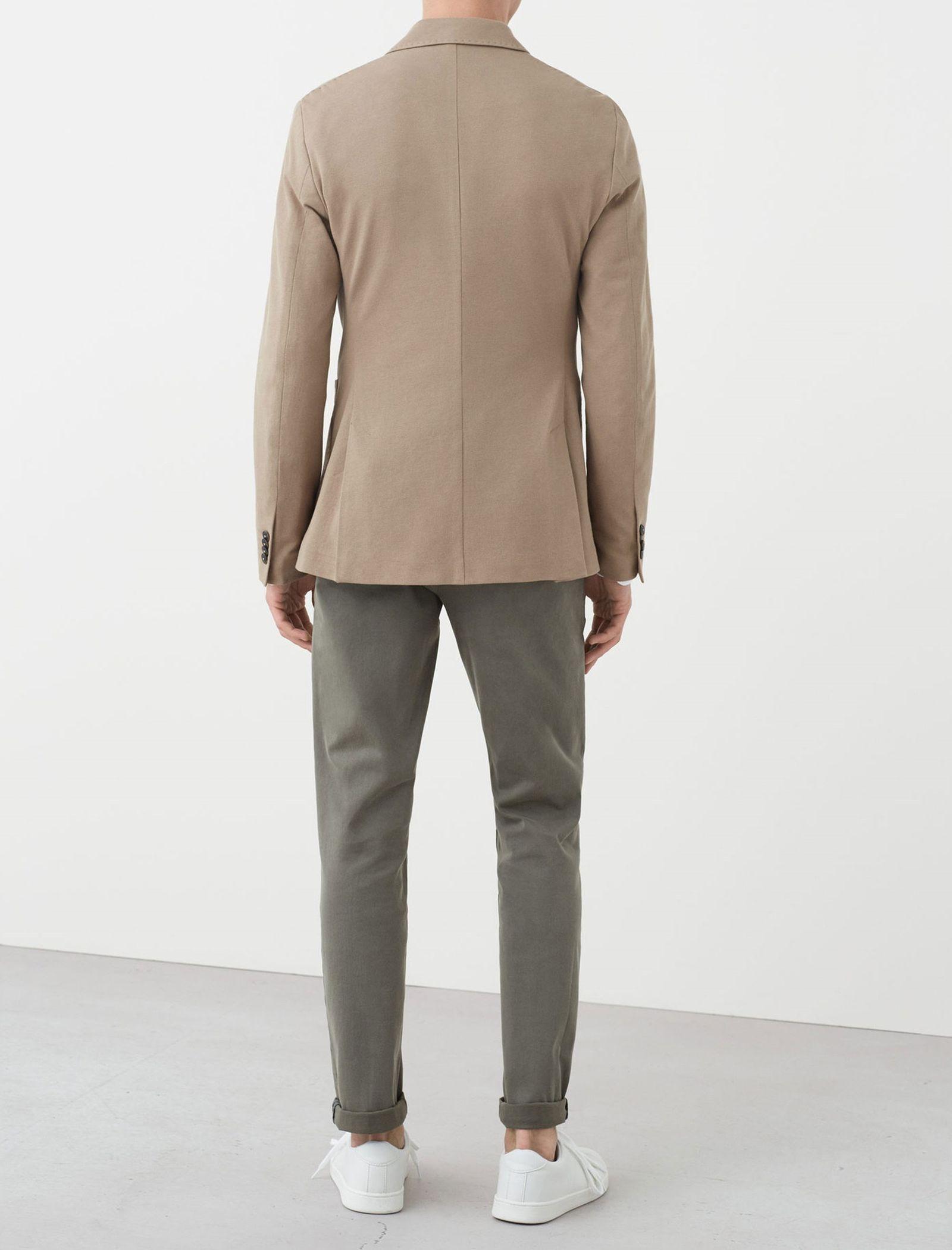 کت تک نخی مردانه - مانگو - بژ روشن - 3