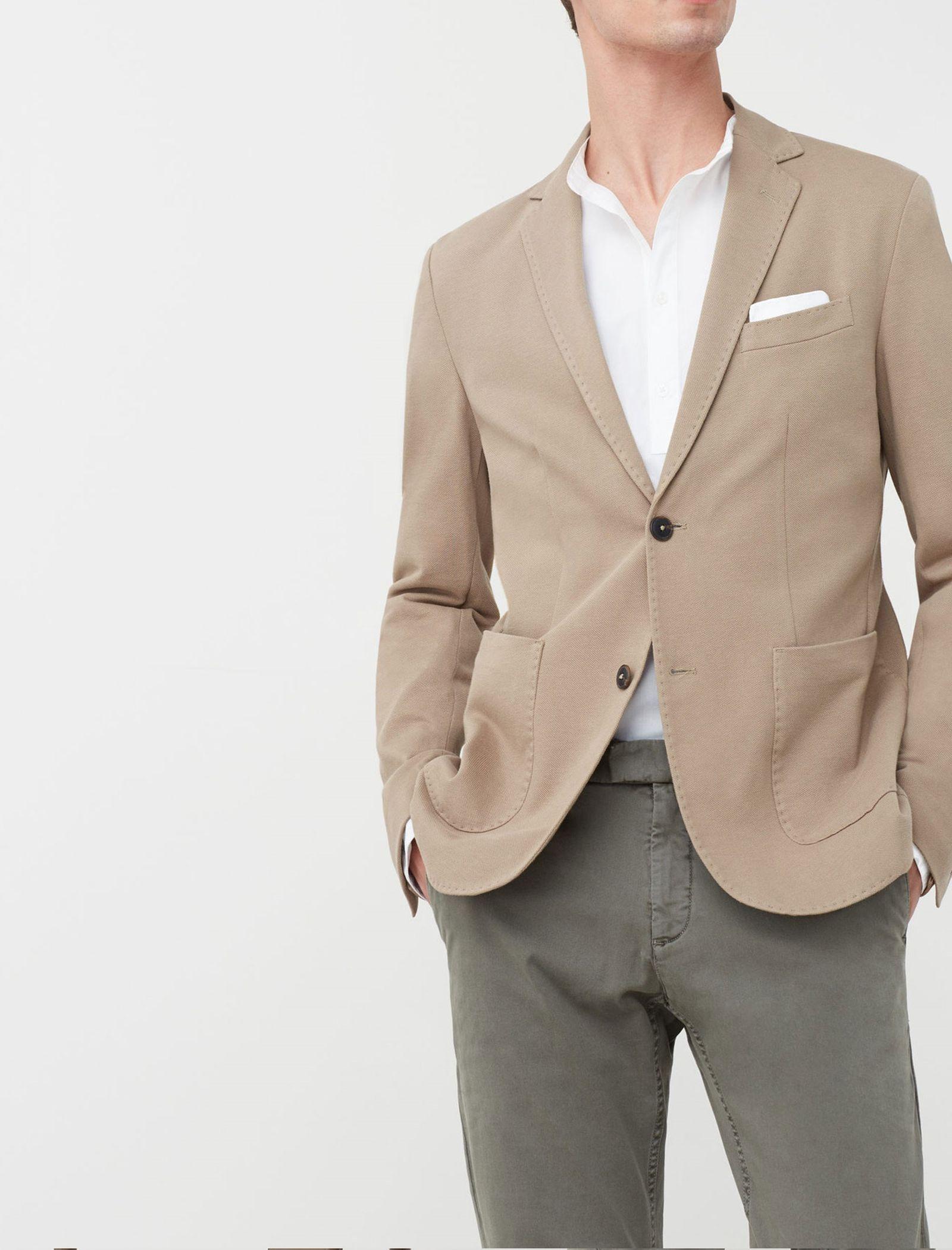 کت تک نخی مردانه - مانگو - بژ روشن - 5