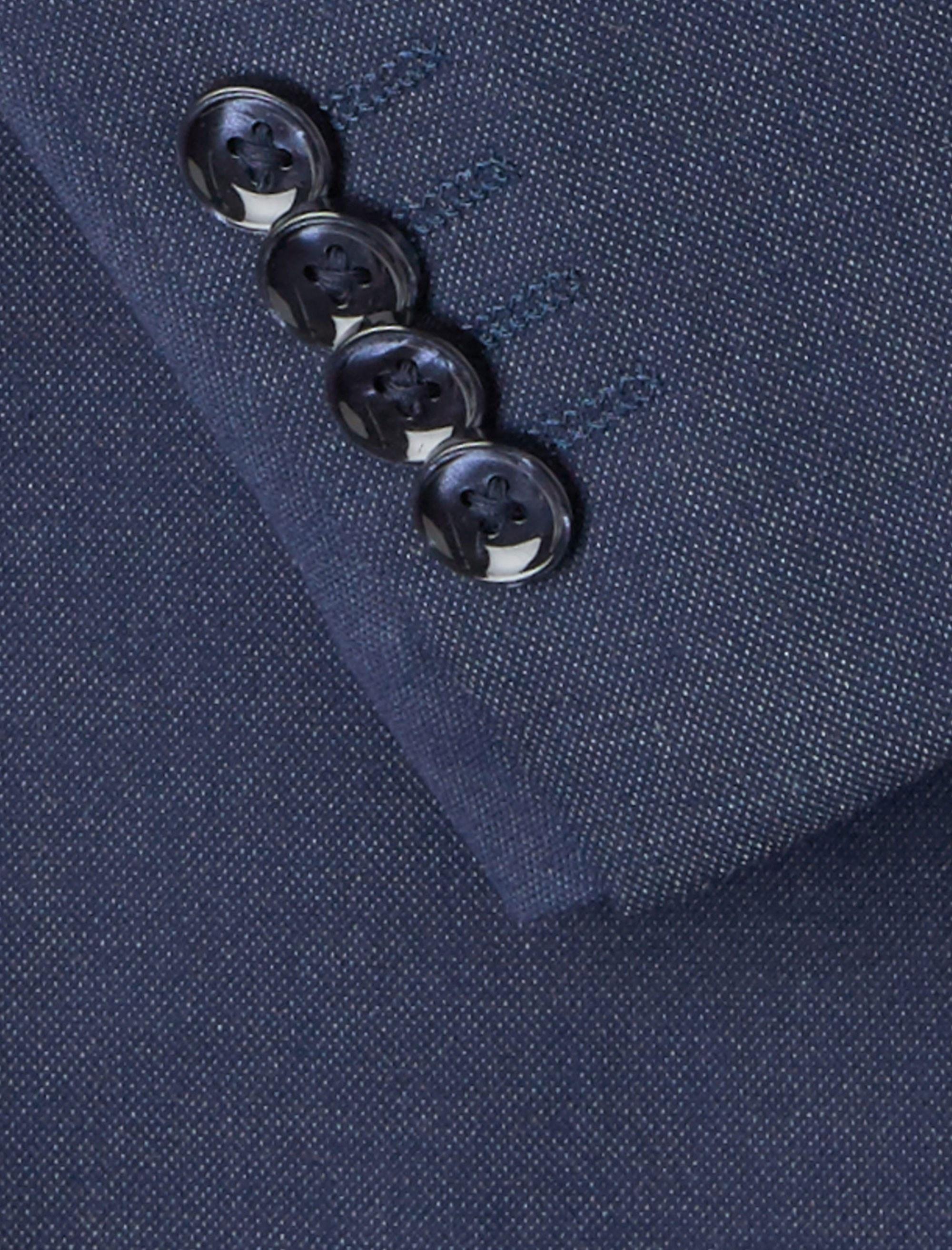 کت تک رسمی مردانه - مانگو - آبي - 6