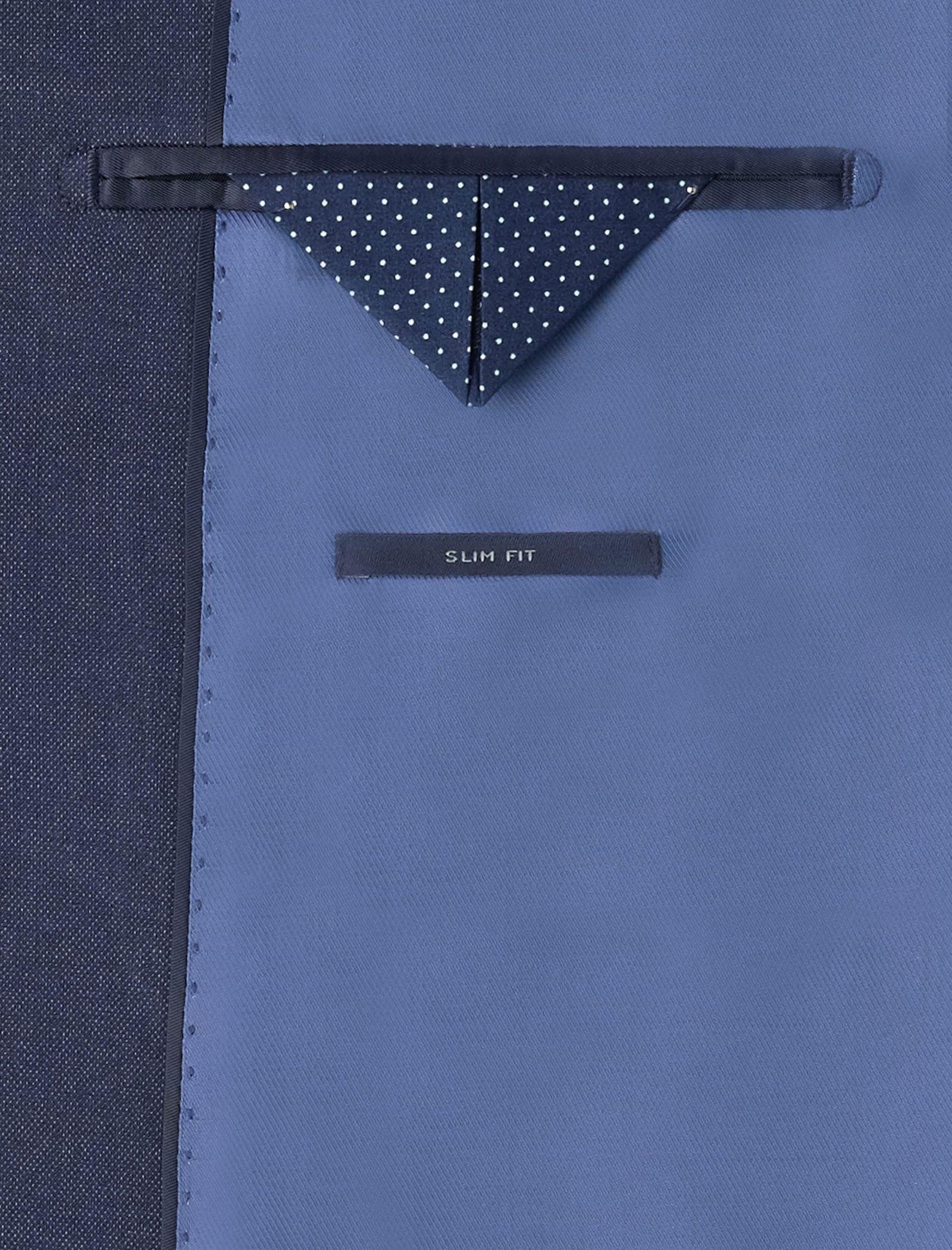 کت تک رسمی مردانه - مانگو - آبي - 7
