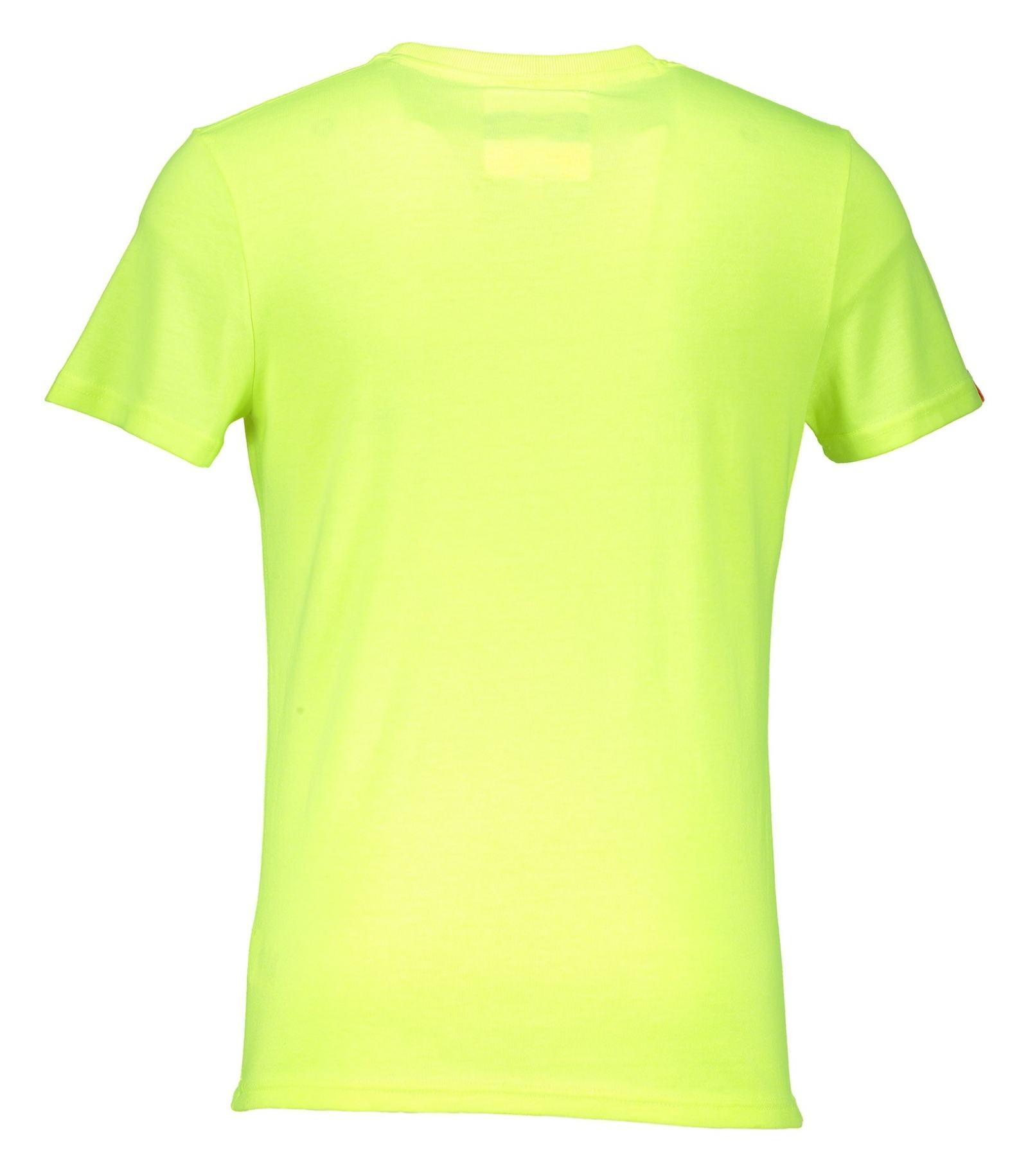 تی شرت یقه گرد مردانه - سوپردرای - زرد فلورسنت - 2