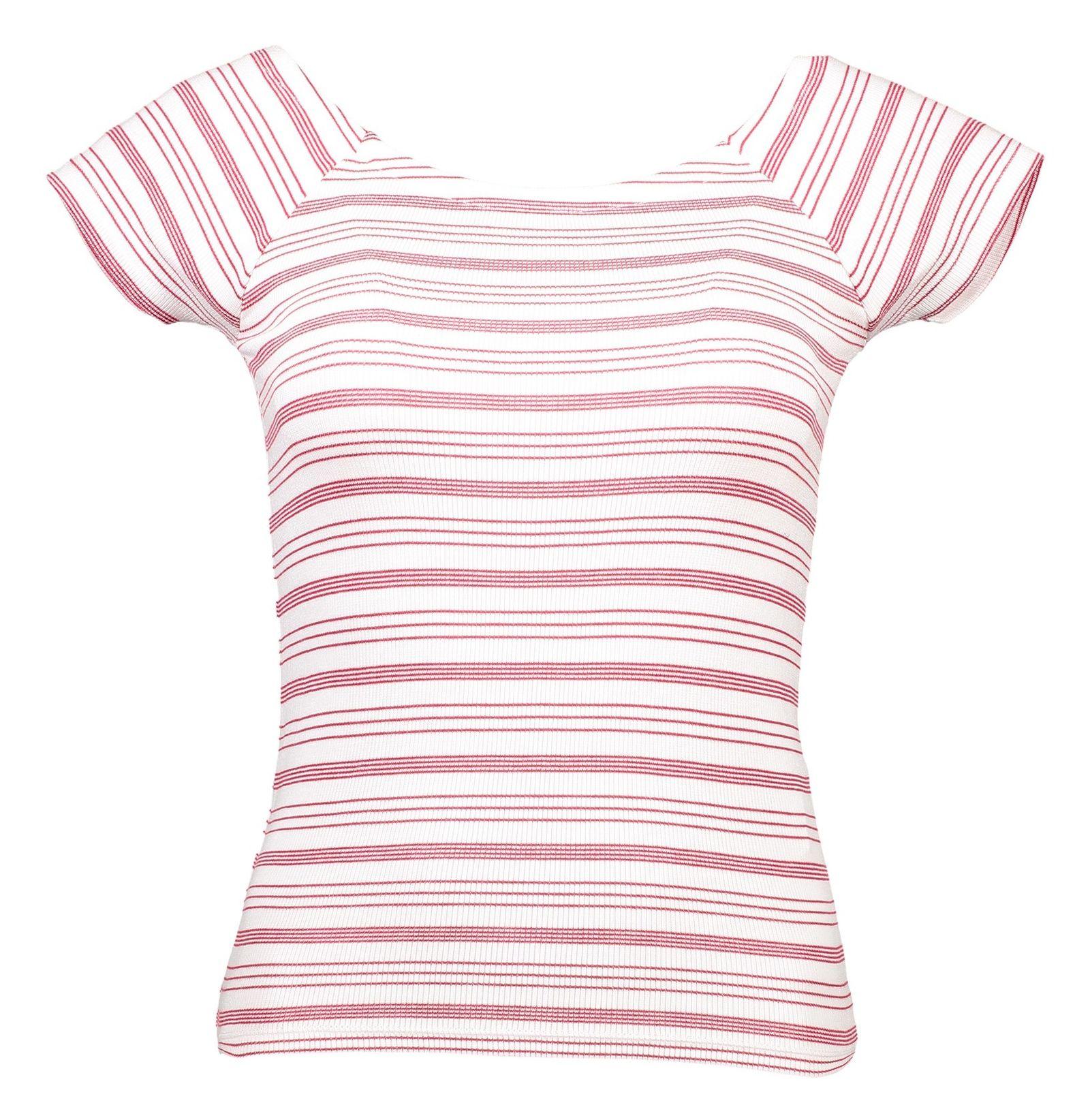 تی شرت ویسکوز زنانه - جنیفر - قرمز - 1