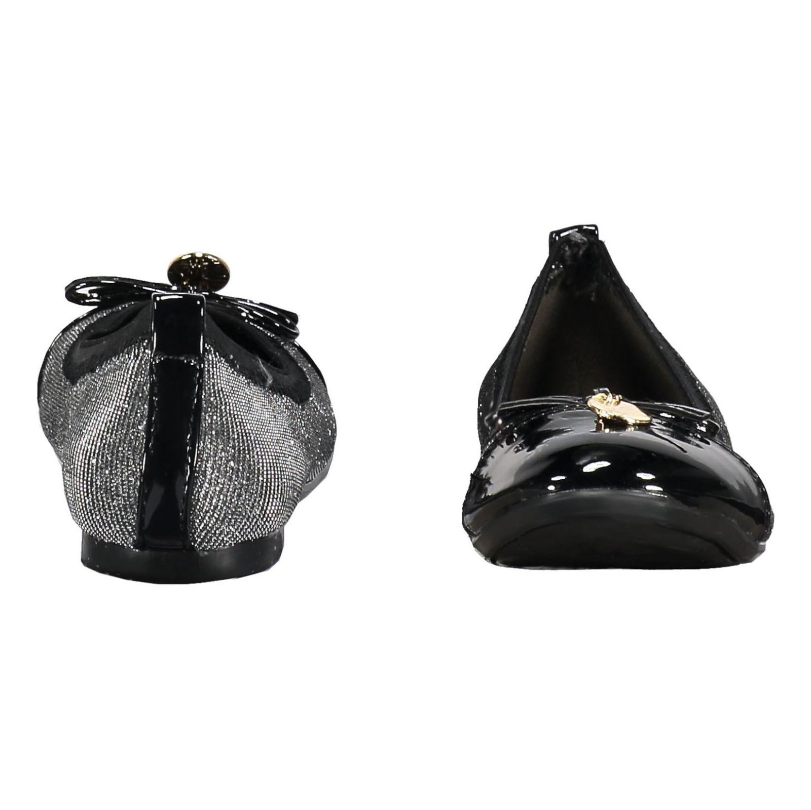 کفش تخت عروسکی دخترانه - باتا - نقره اي - 5
