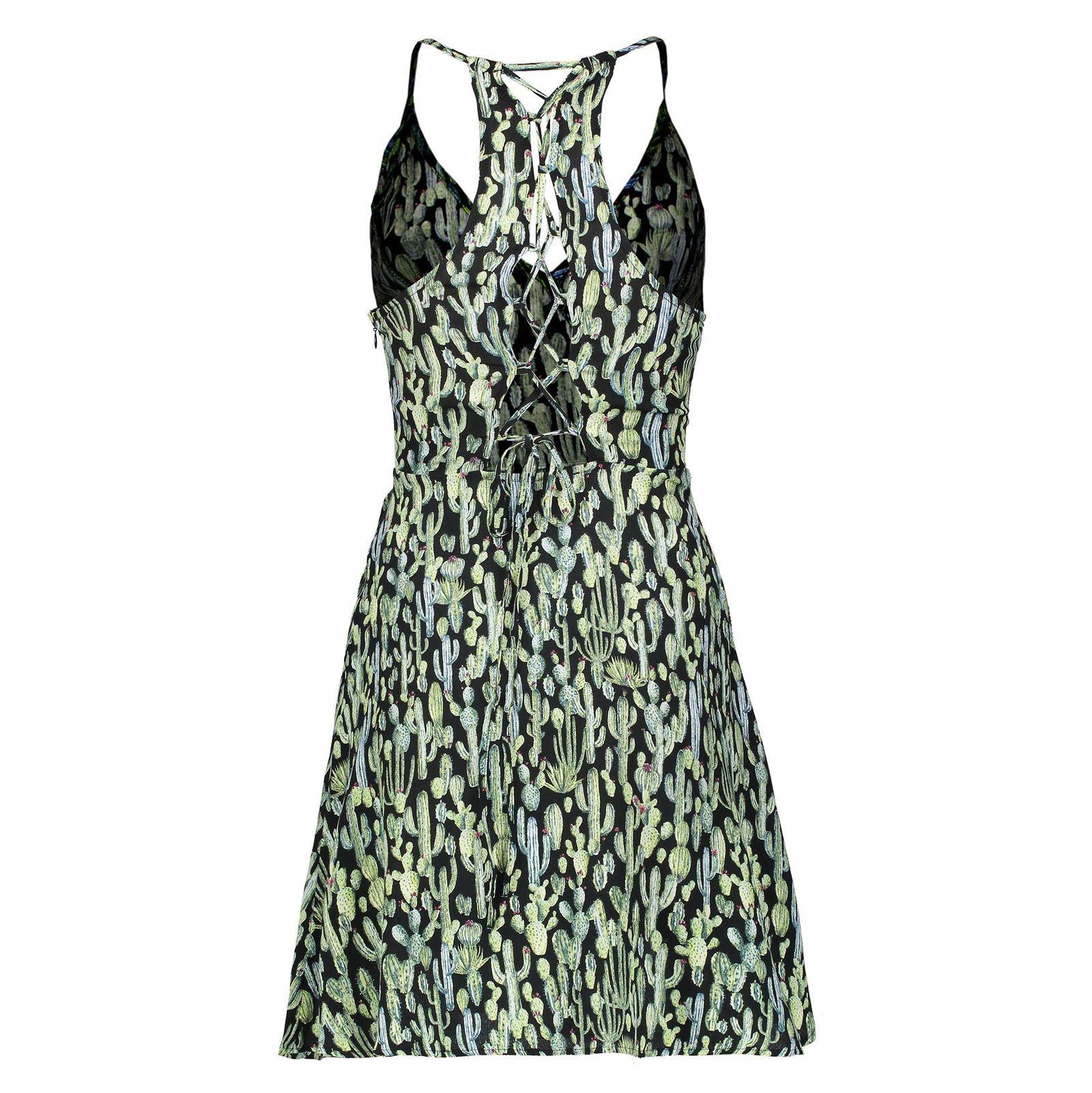 پیراهن ویسکوز زنانه - مانگو - سبز - 2