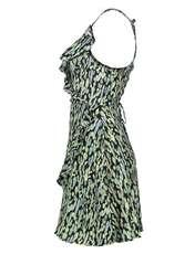 پیراهن ویسکوز زنانه - مانگو - سبز - 3