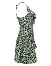 پیراهن ویسکوز زنانه - مانگو - سبز - 4