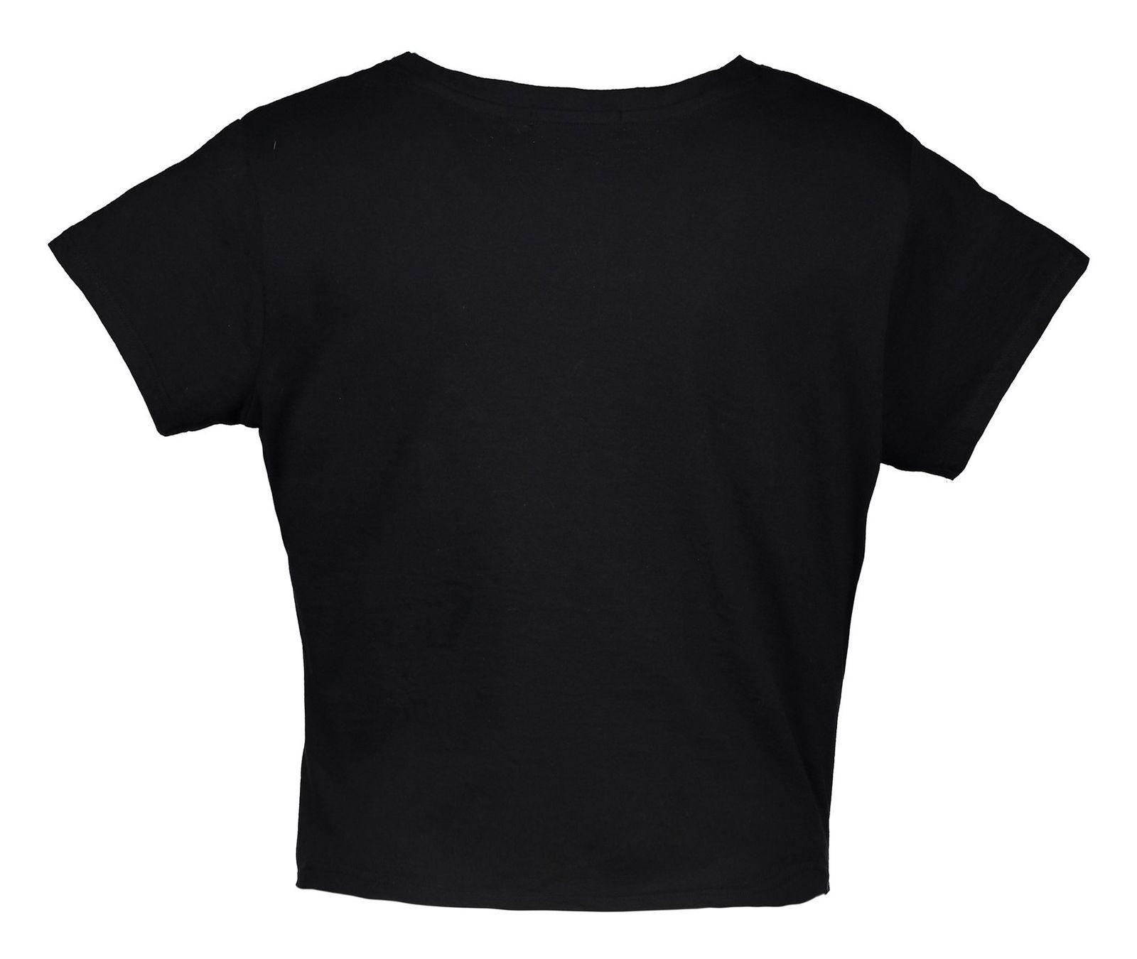 تی شرت یقه گرد زنانه - جنیفر - مشکي - 2