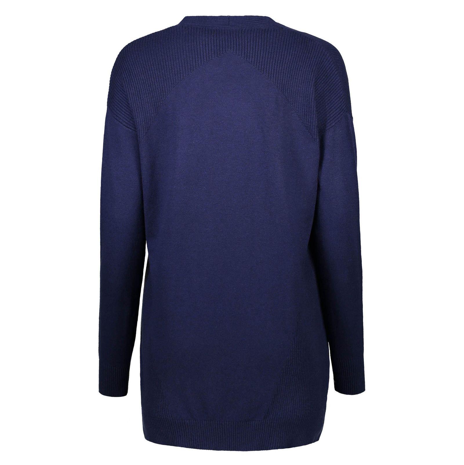 ژاکت بلند زنانه - رد هرینگ - سرمه اي - 2