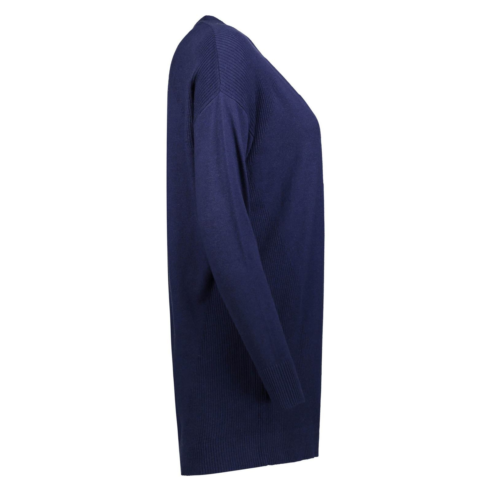 ژاکت بلند زنانه - رد هرینگ - سرمه اي - 3