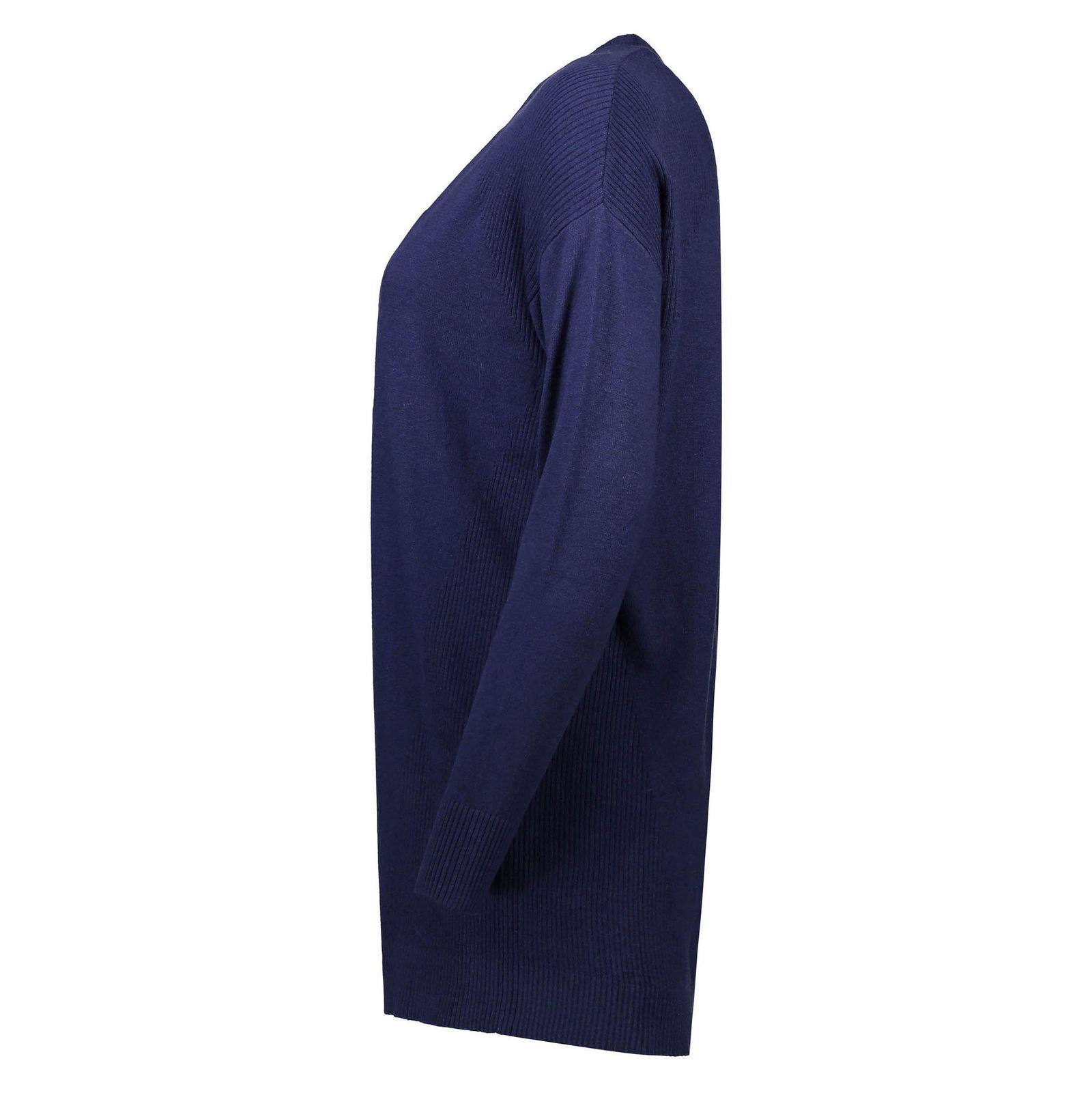ژاکت بلند زنانه - رد هرینگ - سرمه اي - 4
