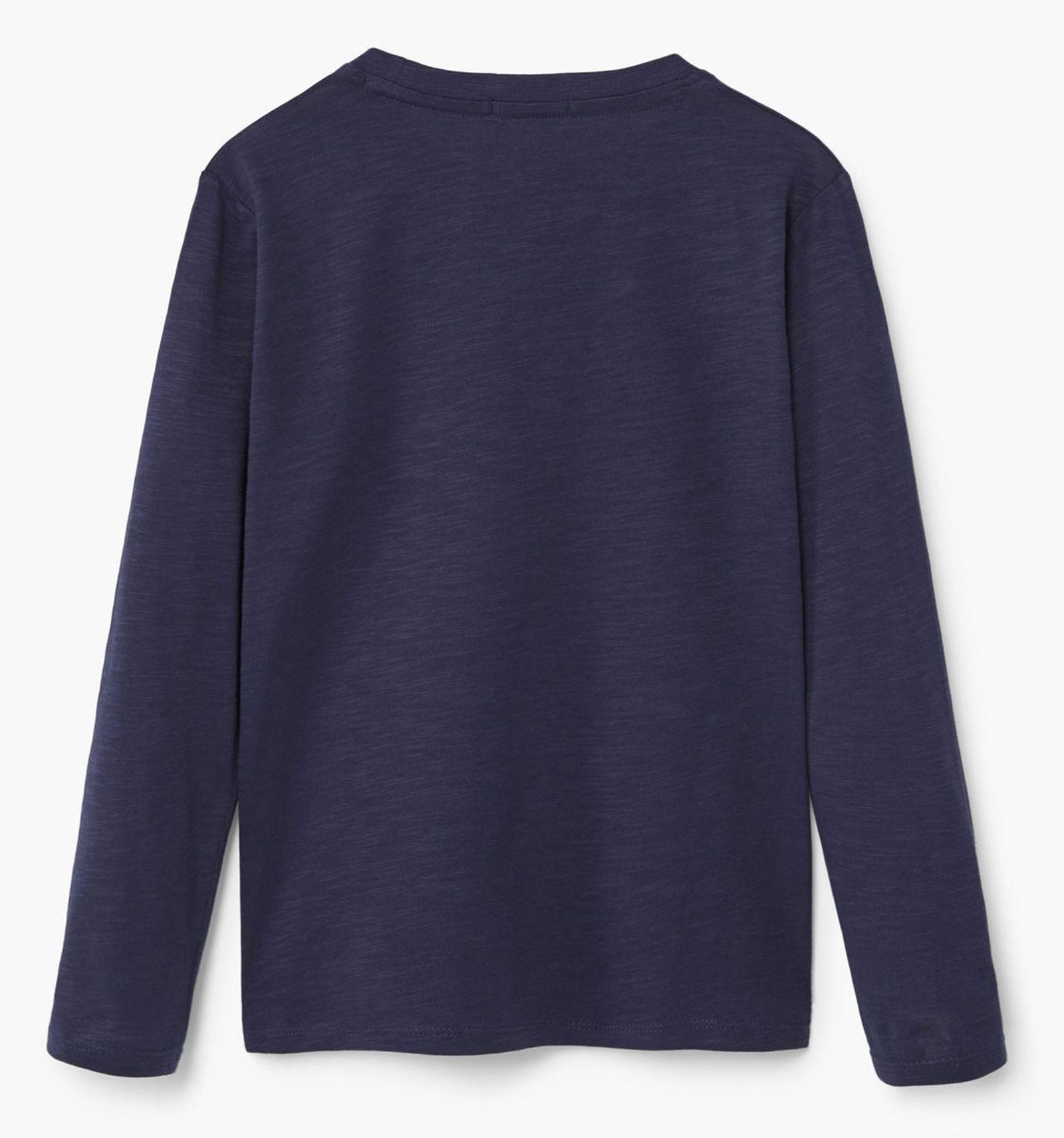 تی شرت نخی پسرانه - مانگو - سرمه اي - 2