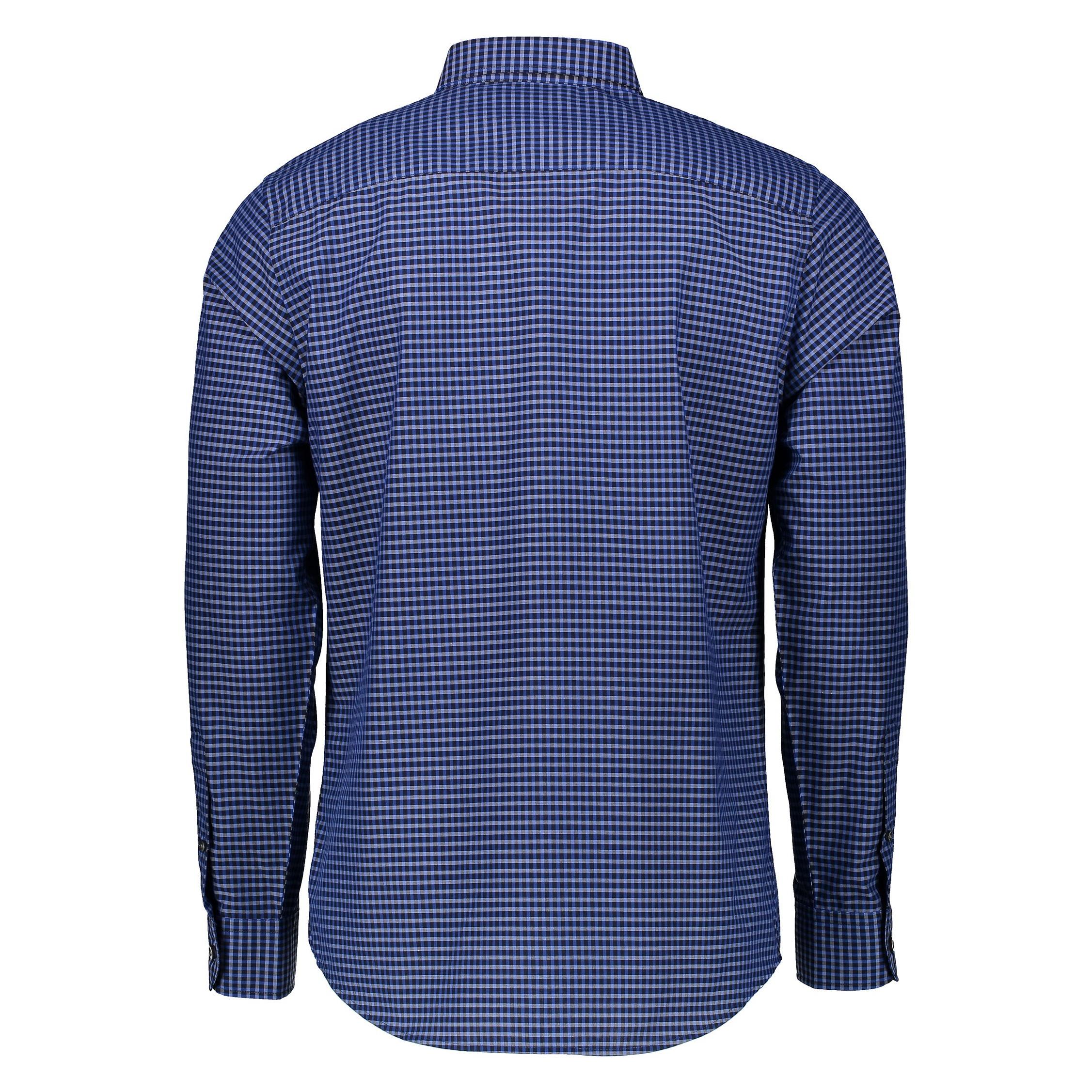 پیراهن نخی مردانه - کالکشن - آبي - 1