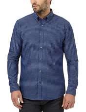 پیراهن نخی مردانه - کالکشن - آبي - 3