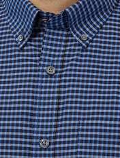 پیراهن نخی مردانه - کالکشن - آبي - 5