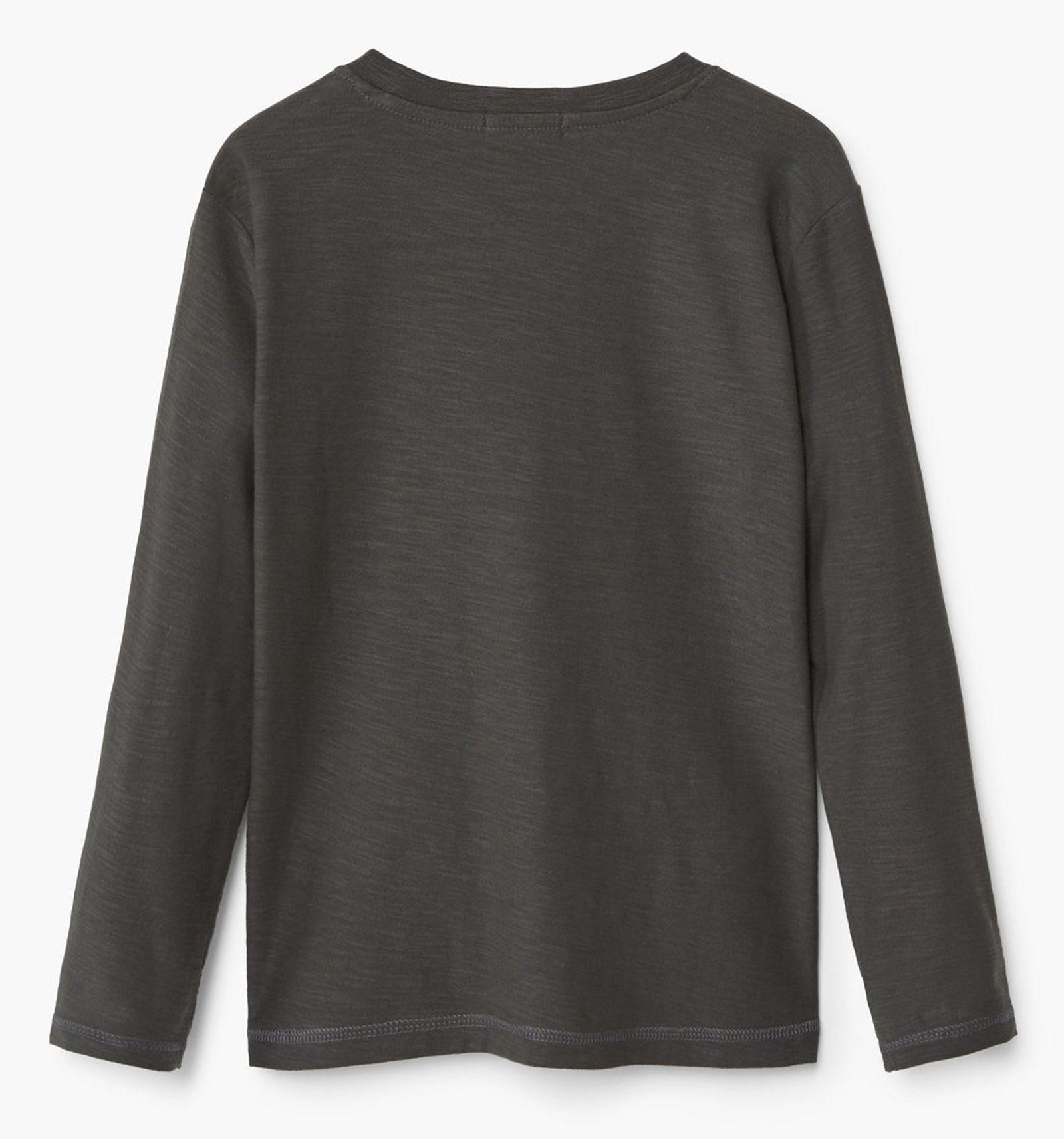 تی شرت نخی پسرانه - مانگو - طوسي تيره - 2