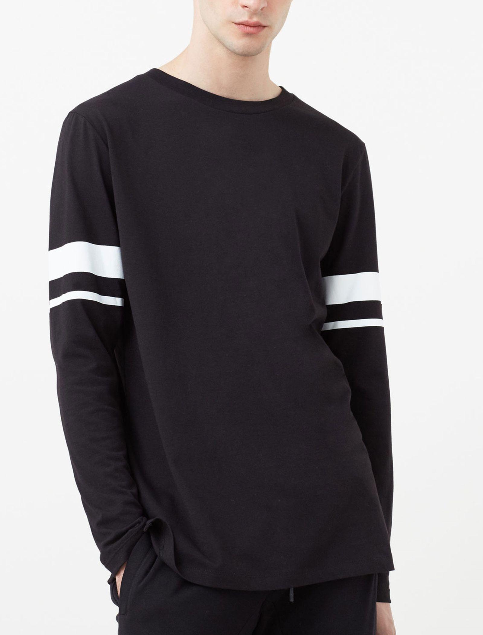 تی شرت نخی مردانه - مانگو - مشکي - 2