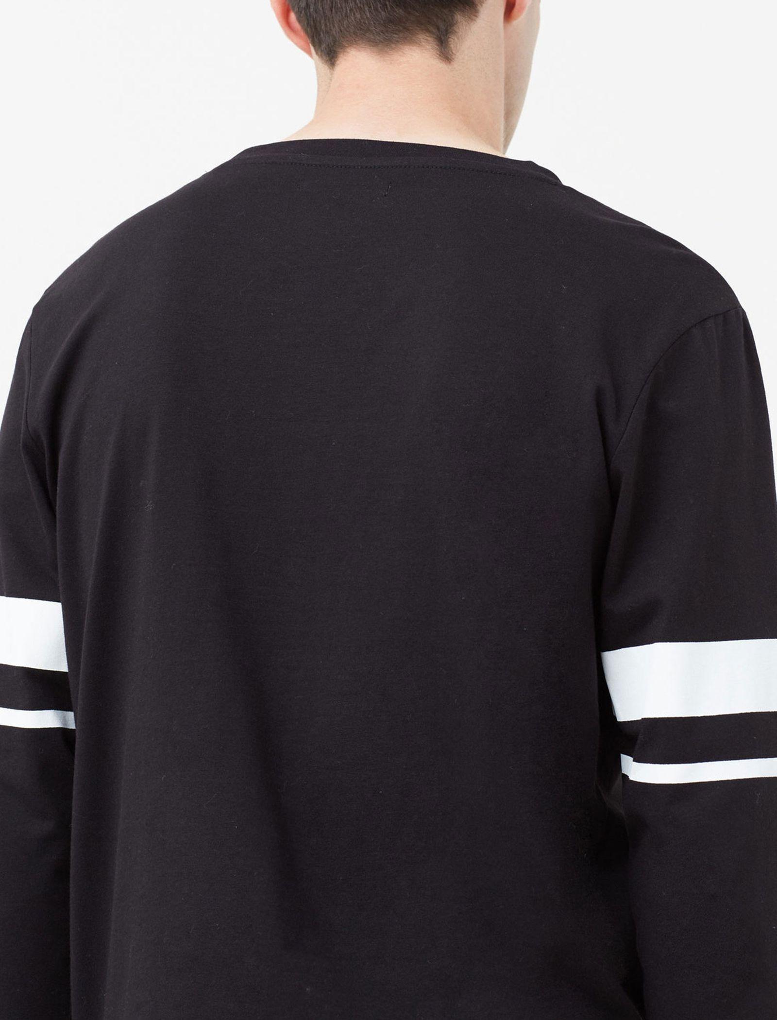 تی شرت نخی مردانه - مانگو - مشکي - 3