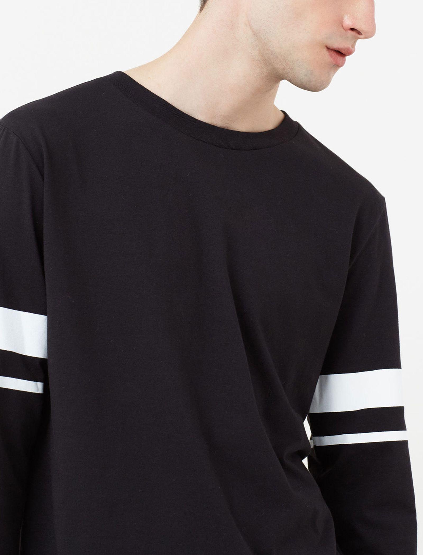 تی شرت نخی مردانه - مانگو - مشکي - 5