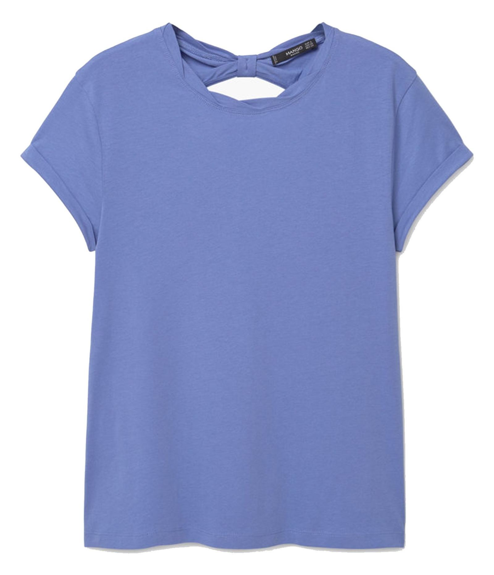 تی شرت نخی زنانه - مانگو - آبي - 1