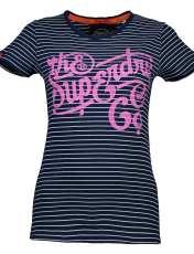 تی شرت نخی زنانه - سوپردرای - سرمه اي - 1