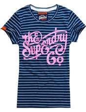 تی شرت نخی زنانه - سوپردرای - سرمه اي - 5