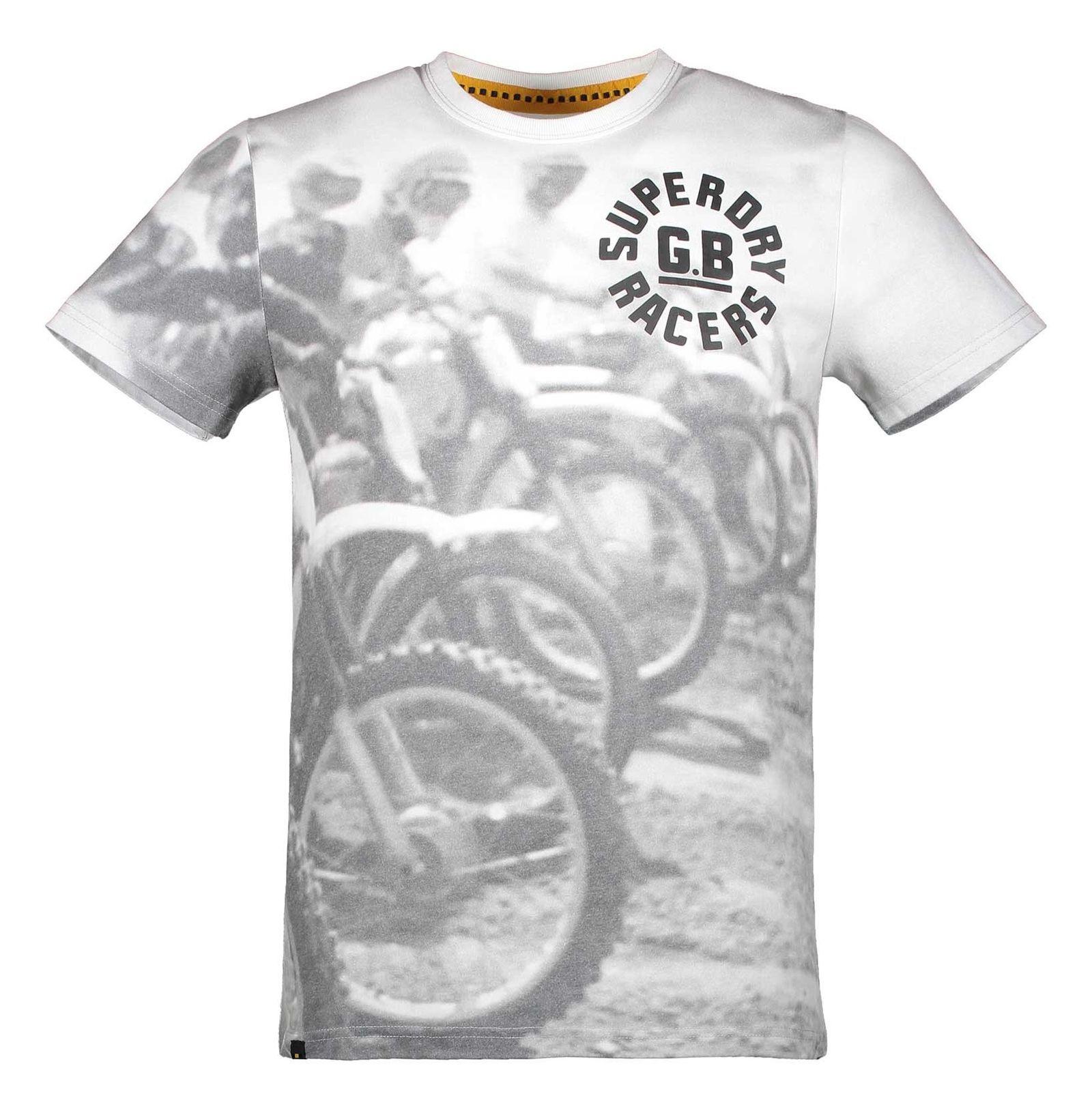 تی شرت یقه گرد مردانه - سوپردرای - طوسي تيره - 1