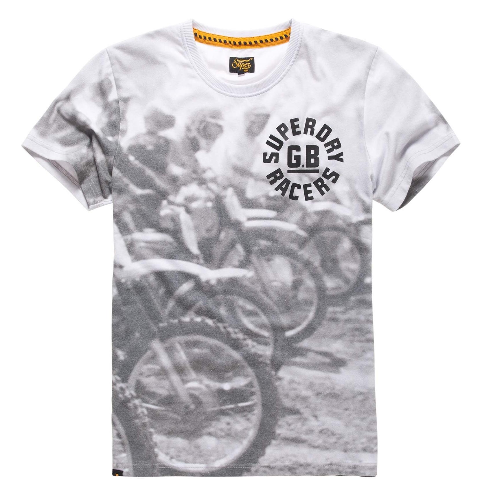 تی شرت یقه گرد مردانه - سوپردرای - طوسي تيره - 4