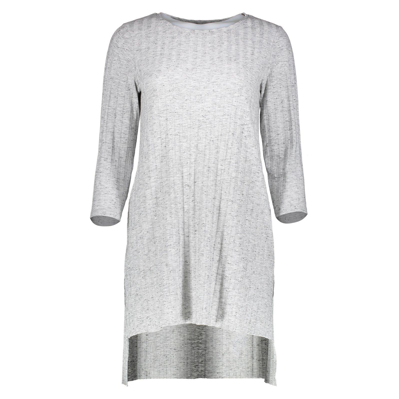 تی شرت یقه گرد زنانه - جنیفر - طوسي ملانژ - 1