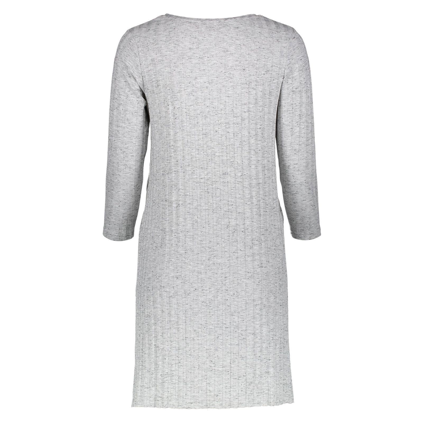 تی شرت یقه گرد زنانه - جنیفر - طوسي ملانژ - 2