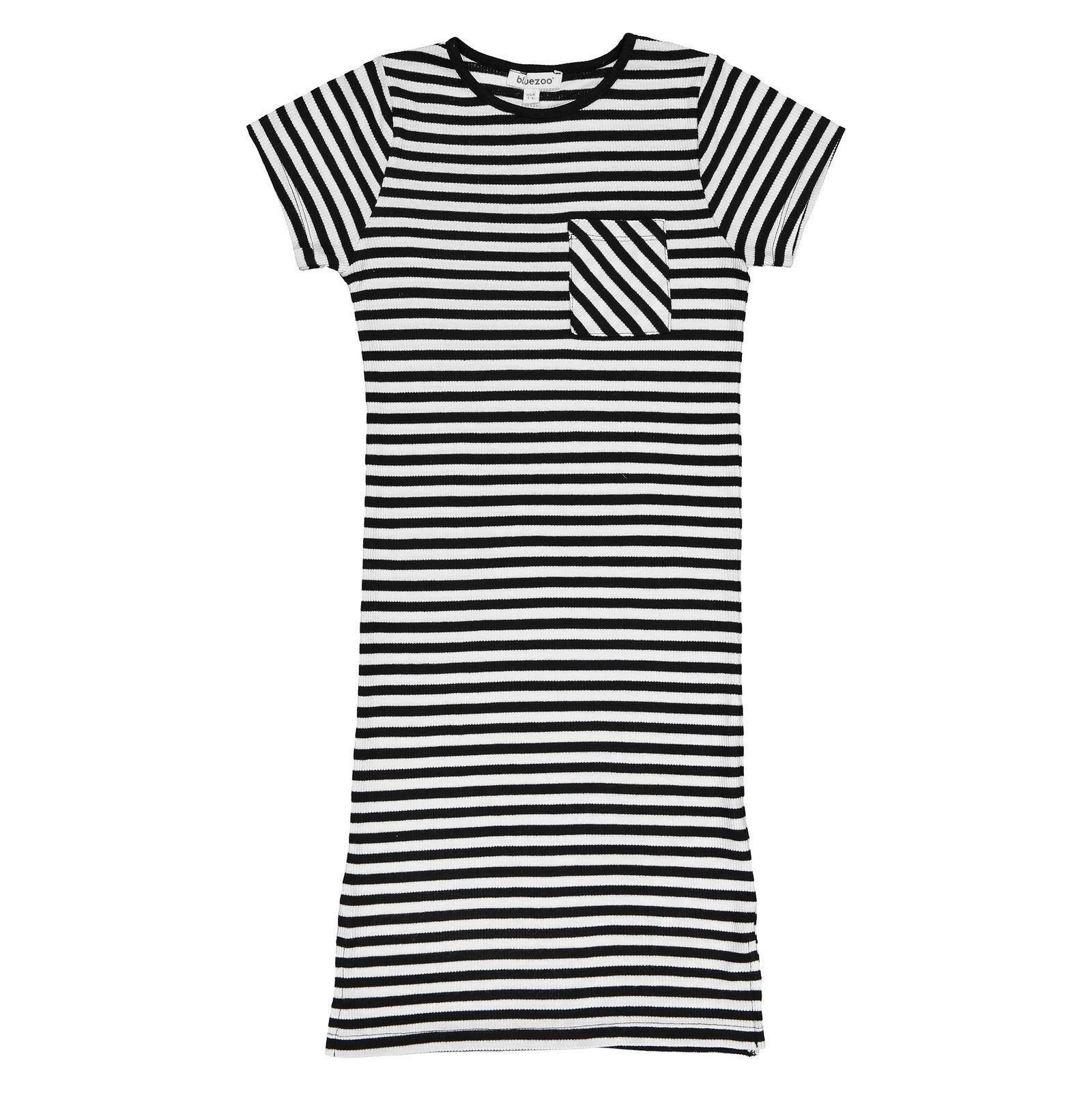 پیراهن ویسکوز دخترانه - بلوزو - راه راه - 1