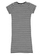 پیراهن ویسکوز دخترانه - بلوزو - راه راه - 2